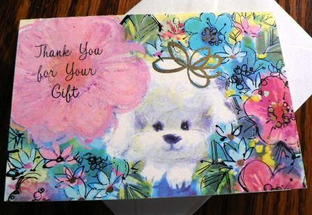 vintage cards  THANK You for Your GIFT by DearNellieStationery, $6.00