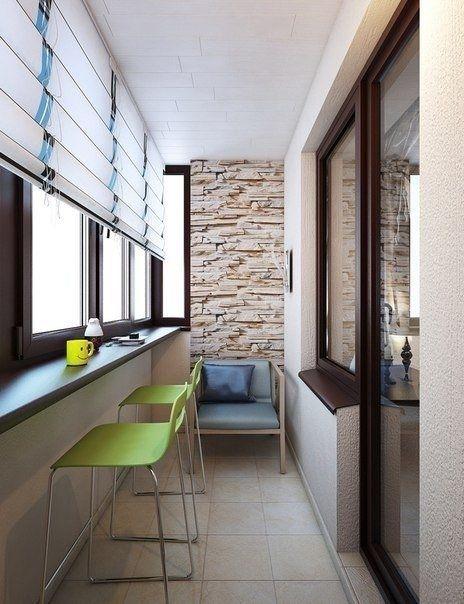 Простая отделка лоджии - Дизайн интерьеров | Идеи вашего дома | Lodgers
