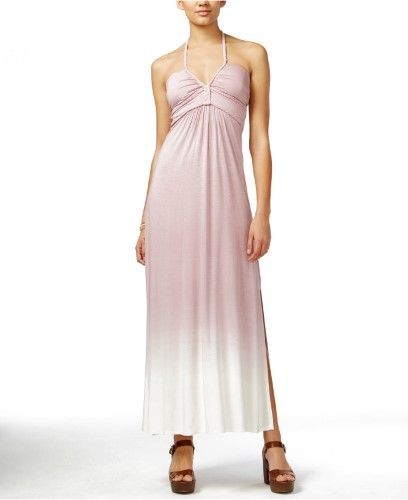 Jessica Simpson Mariette Ombre Halter Maxi Dress