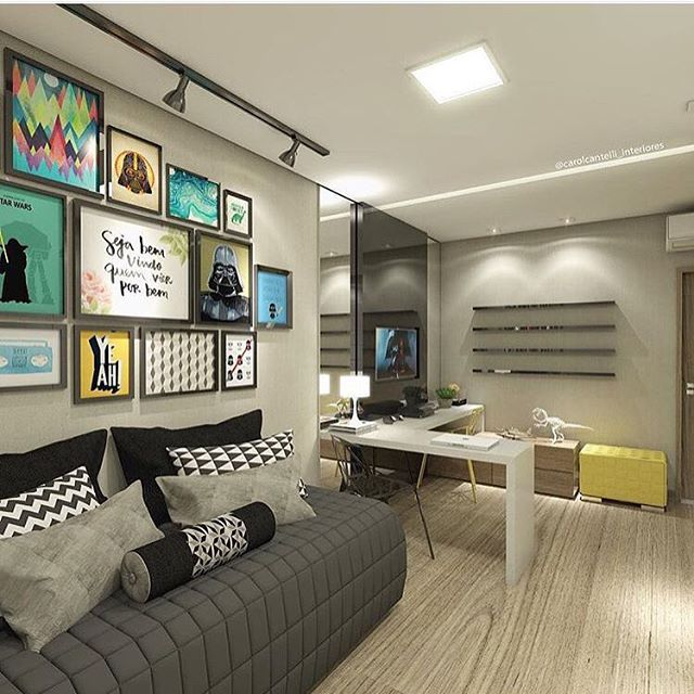 286 melhores imagens sobre Design de Interiores no  ~ Quarto Casal Nerd