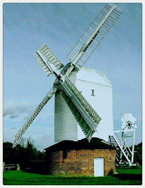 P Upthorpe windmill Stanton in Suffolk.