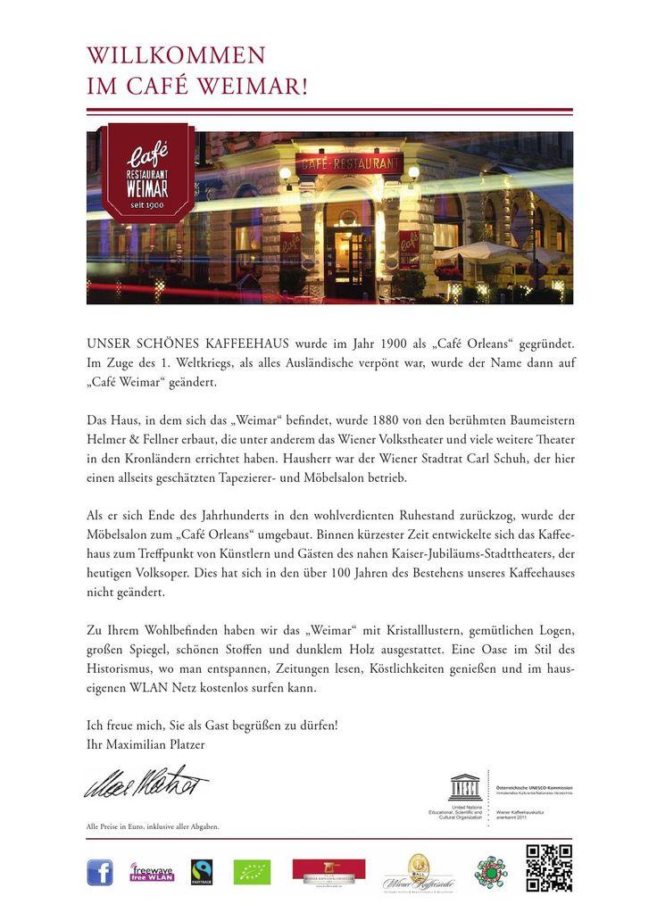 Cafe Weimar Speisekarte Deutsch
