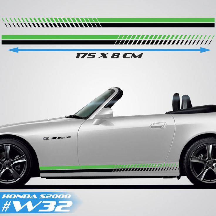 Honda S200 Sports Side Racing Stripes Car Decals Graphics Rally Stickers