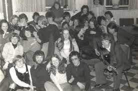 Peace Core having folk group practise for St Matthews church 70's I am in this picture.