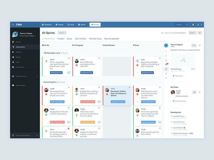 """Jira Revamped – While managing my software development project using Atlassian JIRA, I felt the need to revamp its """"Active Sprints"""" screen's design a bit. I attempted to spruce it up by introducing..."""