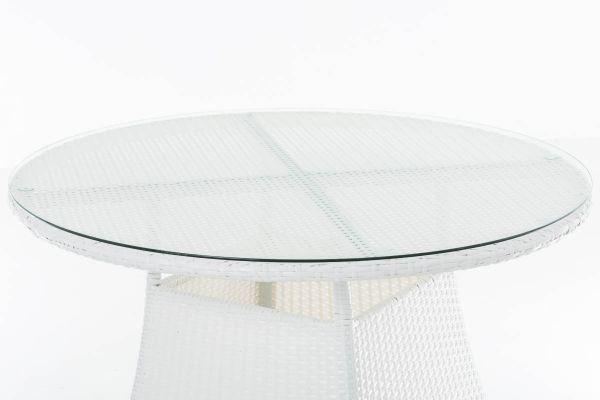Tisch Sanremo Weiss Tisch Glastische Und Gartenmobel