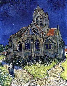 "Vincent Van Gogh, ""Chiesa di Auvers-sur-Oise"", 1890, olio su tela. Parigi, Musée d'Orsay"