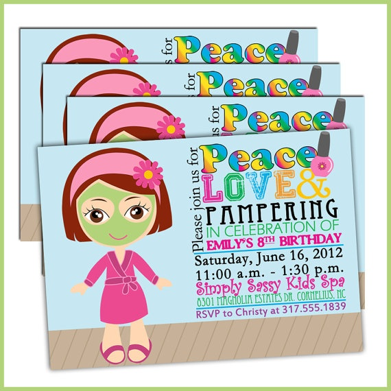 39 best images about little girl spa party – Little Girl Spa Party Invitations