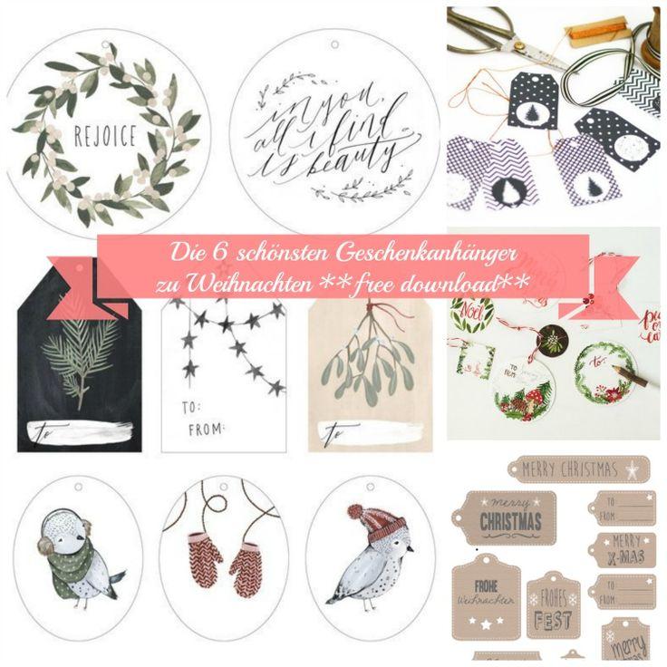 Free Download: Die schönsten Geschenkanhänger zu Weihnachten