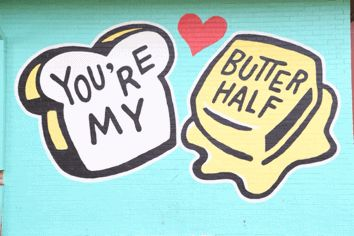 awesome gif, austin video, couple kissing video, sweet couple video, love video, , butter half, mural in austin, best photo ops austin, best murals in america, cute couple, adventurous couple, beautiful couple, mr and mrs adventure