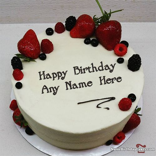 Best Strawberry Cake For Boys Happy Birthday Wish With ...