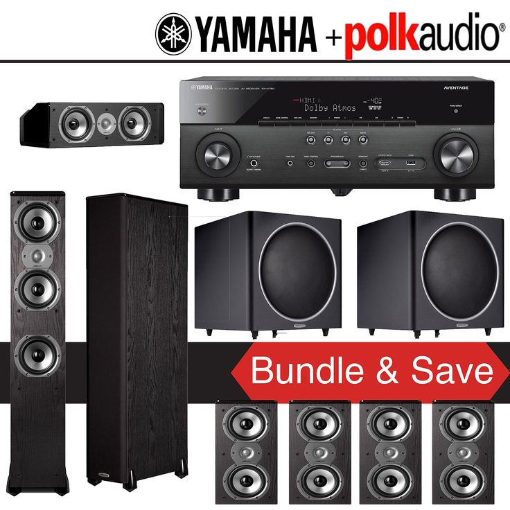 Polk Audio TSi 400 7.2-Ch Home Theater System with Yamaha AVENTAGE RX-A760BL 7.2-Ch Network AV Receiver