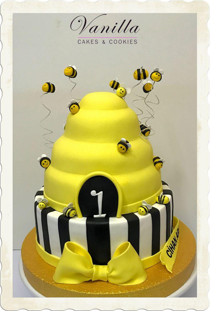 1 yaş Arı Kovanı Pasta, Beehive Cake for babies, Arı Kovanı Pasta
