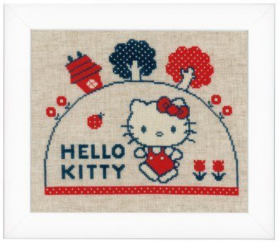 Hello Kitty Walking - Cross Stitch Kit Vervaco 0153763