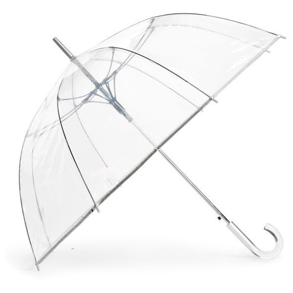 SHEDRAIN Auto Open Stick Clear Dome Umbrella (42 CAD) ❤ liked on Polyvore featuring accessories, umbrellas, clear umbrella, dome shaped umbrella, shedrain, dome umbrella and shedrain umbrella
