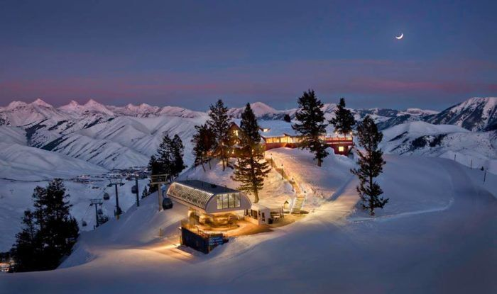 Perched on the side of the famous Bald Mountain, the Roundhouse has been a local favorite since it was originally built in 1939. This exquisite restaurant is quite the sight. During night time, it literally glows on the mountain amid blankets of pristine snow!