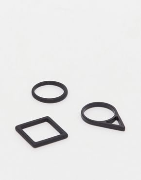 ASOS Geometric Shapes Ring Pack