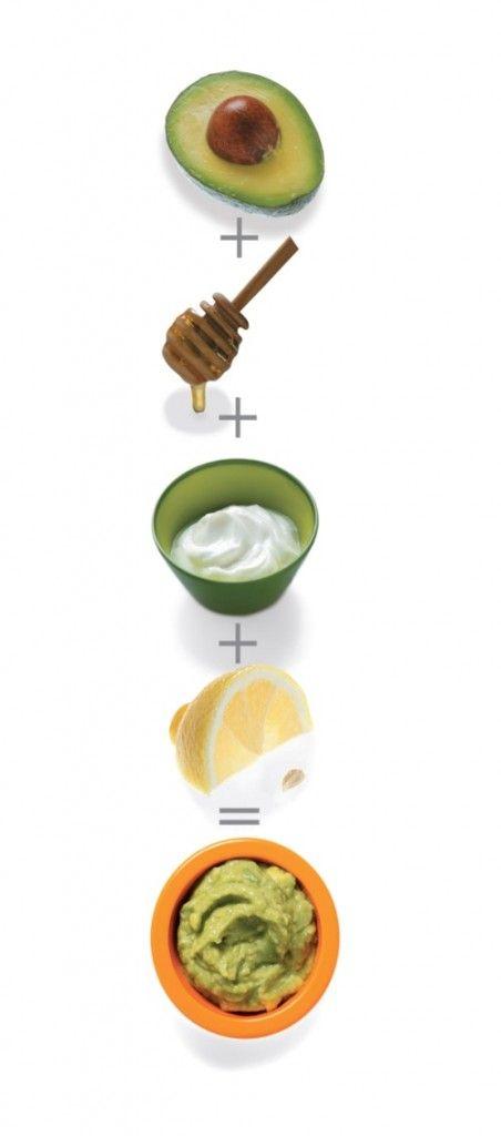 diy facials.....avocado+squirt of honey+greek yogurt+squeeze of lemon= AVOCADO FACE MASK!