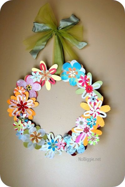 Paper Flower Wreath Easter And Spring Paper Flower Wreaths
