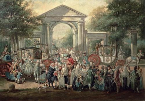 Luis Paret y Alcázar    A Fiesta in the Botanical Garden (1775)