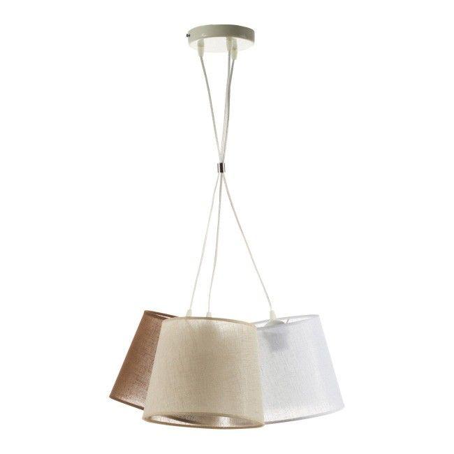 Lampa wisząca Rossa 3 x 40 W E27 brązowa