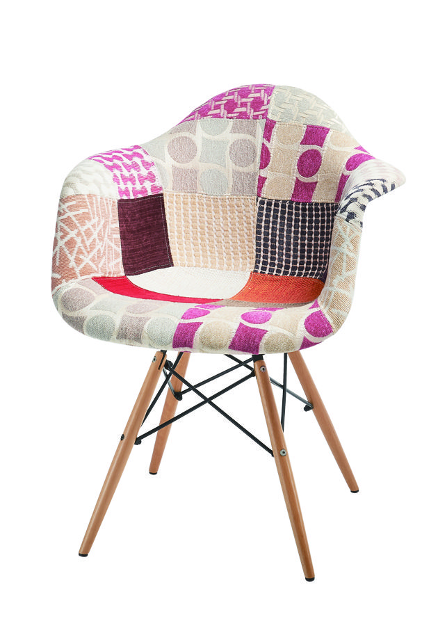 Chaise en patchwork amazing chaise en patchwork with for Chaise longue patchwork