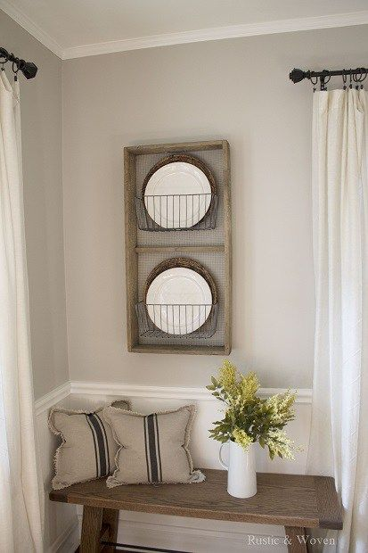 Rustic Farmhouse Plate Rack for Dining Room