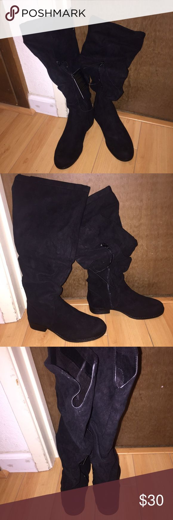 1000 ideas about suede knee high boots on