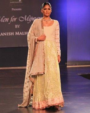 Olive Green Chikankari Kurta - Manish Malhothra