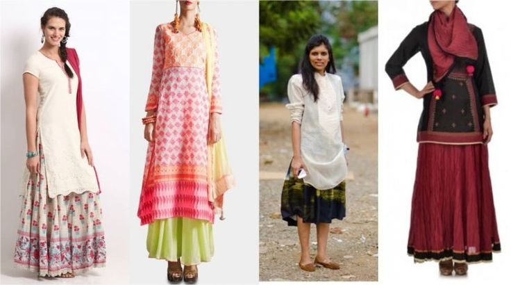 Skirt and Kurti Anarkali