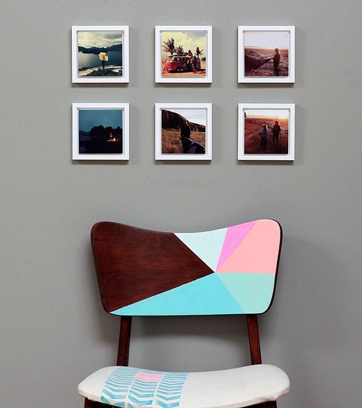 instagram pico frame display with chair. www.picoframe.com