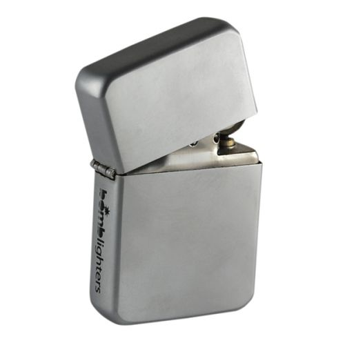 Bomblighter - Matte Chrome.  Limited edition; Solid windproof metal lighter; Full lifetime guarantee; Comes boxed and in a tin case; Excellent collectors item; Makes an ideal gift! 6cm Tall x 4cm Wide.  For more information please click the link or visit dotcombong.com.