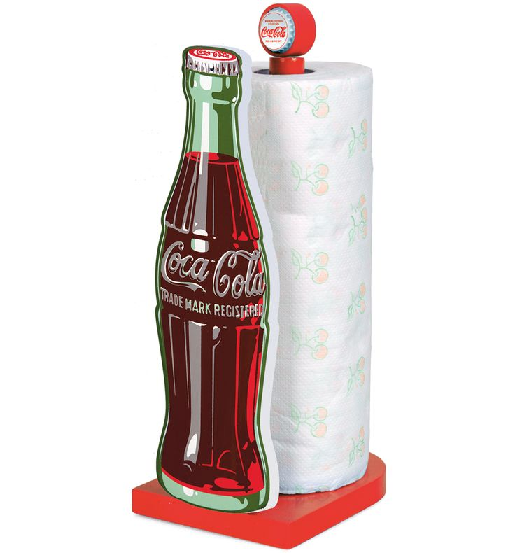 Coca Cola Paper Towel Holder W/ Contour Bottle