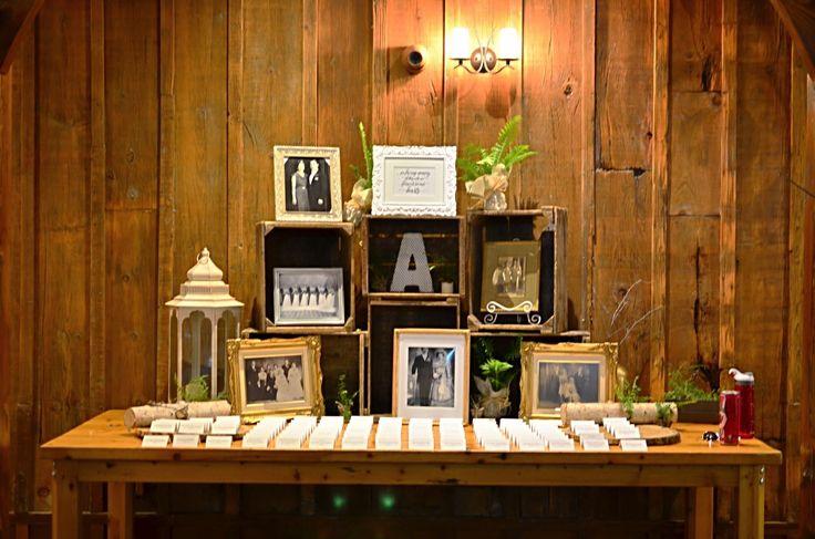 アメリカ・ラスティックなサマーウェデイングの結婚式レポ エスコートテーブル