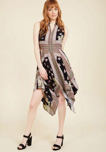 Down to a Fine Scarf A-Line Dress, @ModCloth