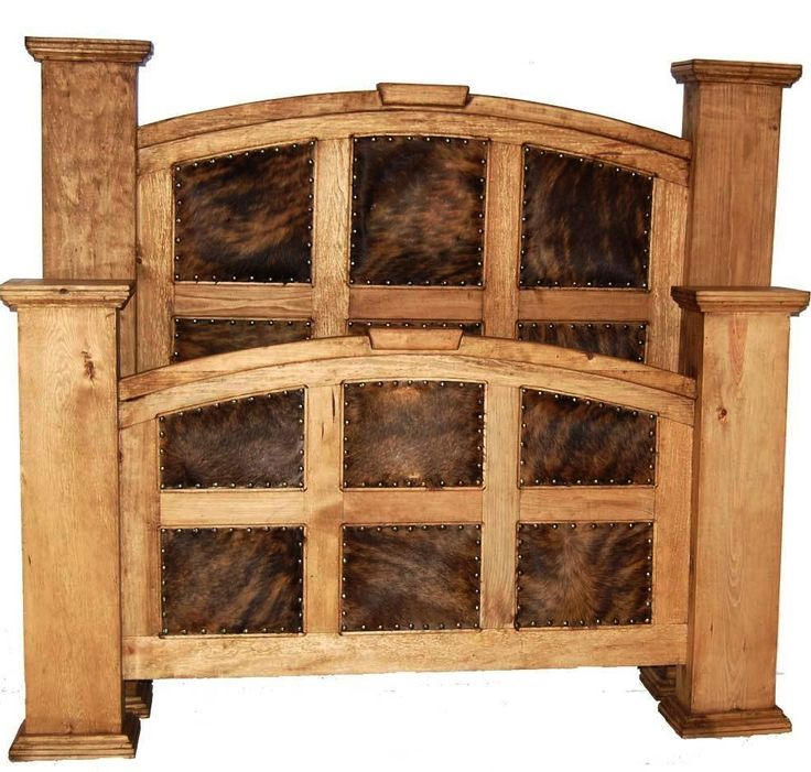 What A Headboard Does For A Bedroom | Cowhide Mansion Full Bed | Rustic  Furniture |