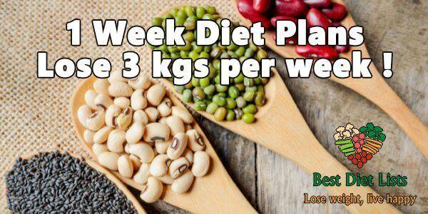 3 kg in a week diet