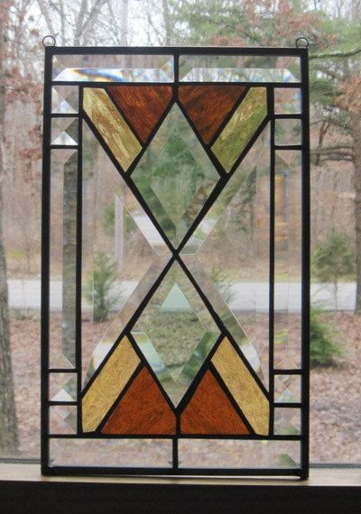 Stained Glass Panel Southwest Design in by CartersStainedGlass, $75.00