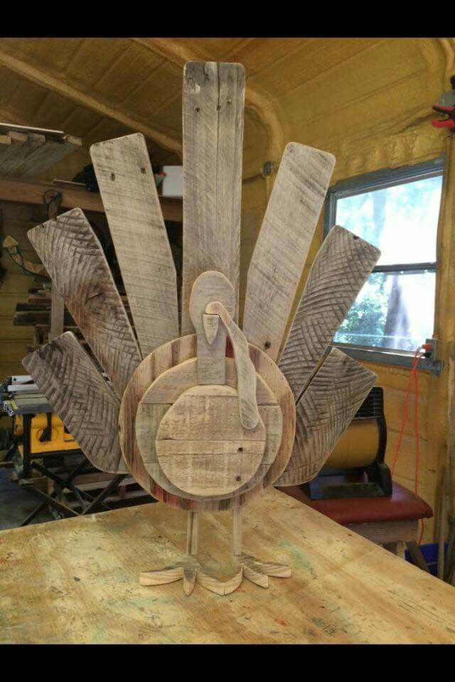 Diy wooden turkey