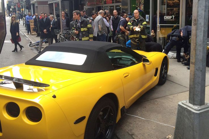 #Woman #pinned under #Corvette after auto starter misfires...