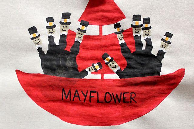 mayflower hand print craft of cuteness