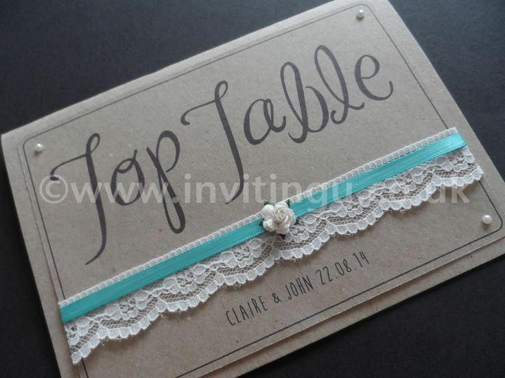 A new Collection on Vintage style wedding stationery. 'Oh So Pretty' Table Number card from ©www.invitingu.co.uk