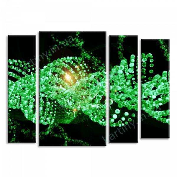 Картина Зеленый узор