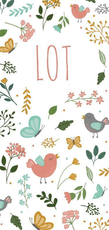 Vrolijk geboortekaartje voor een kleine meid! Met vogels, vlinders en allerlei t… – Haardesign