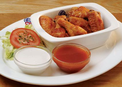 Starter Buffalo Wings. Chicken wings basted or tossed in Spur's famous Durky Sauce at Spur Steak Ranches | http://www.spur.co.za/menu/starters