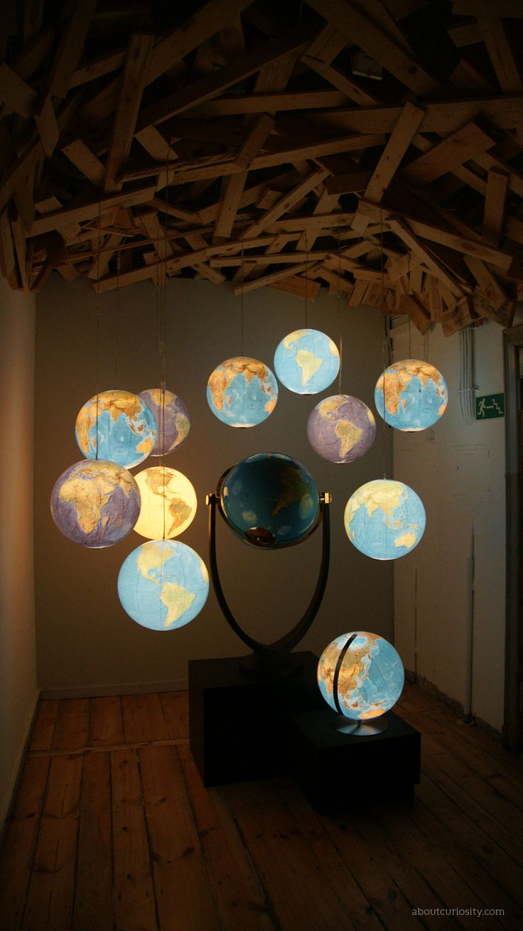 globes in a room