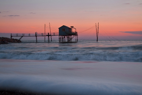 Tuscany beach sunset at Perelli Maremma Italy