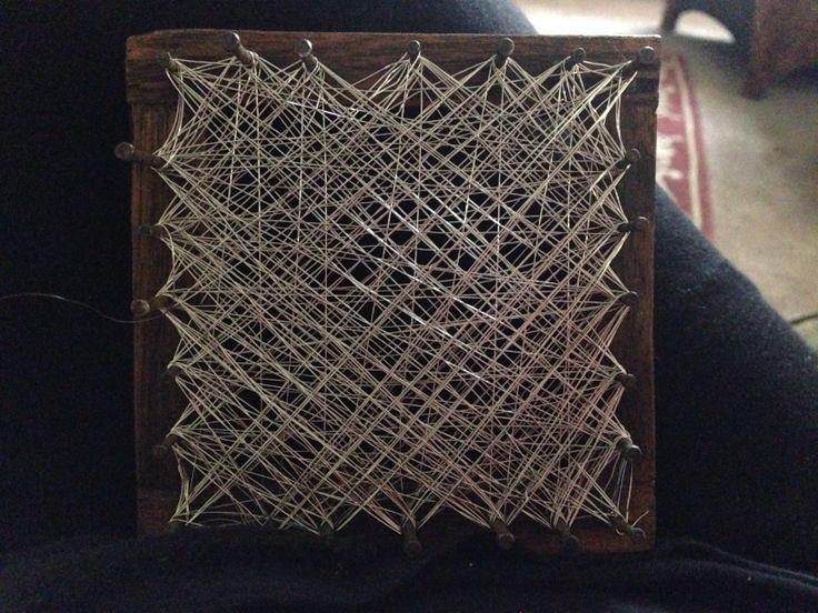 Wire weaving with found objects
