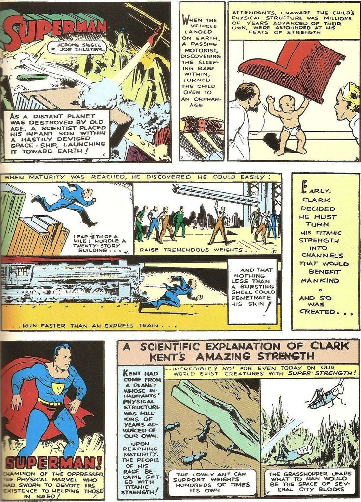 """Superman"" by Jerry Siegel and Joe Shuster (1938)"