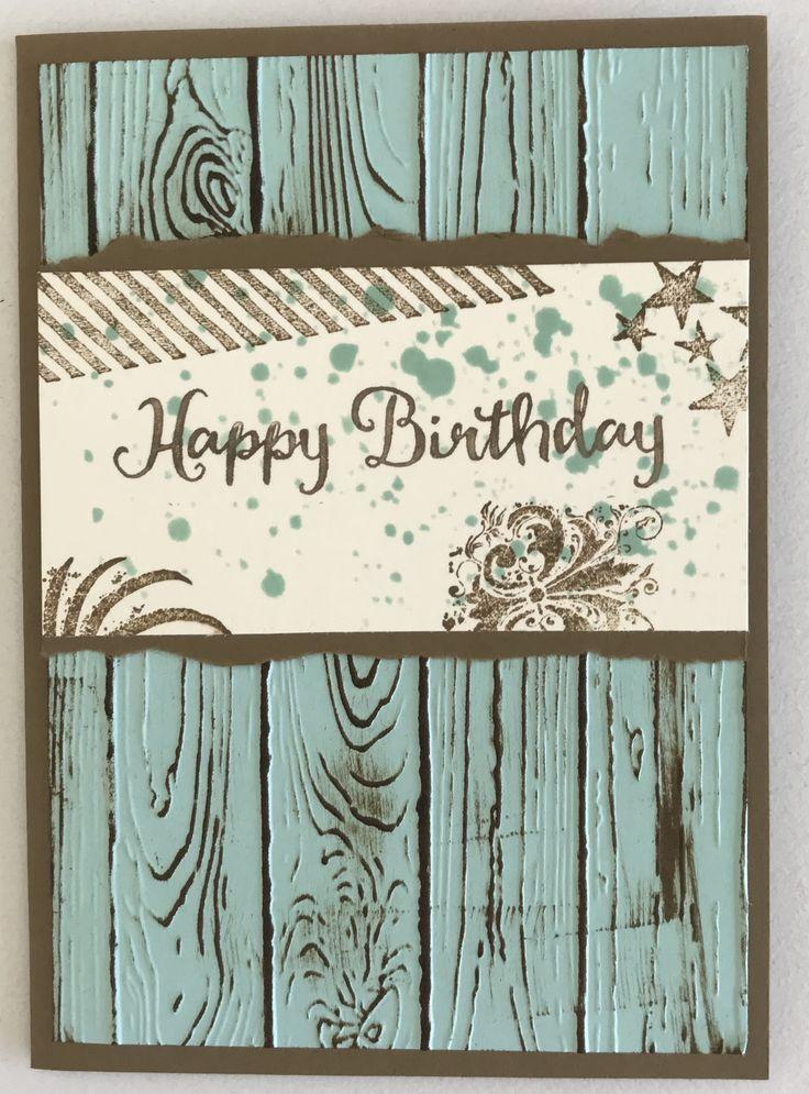 Geburtstagskarte Basteln Stampin Up Masculine Birthday Cards